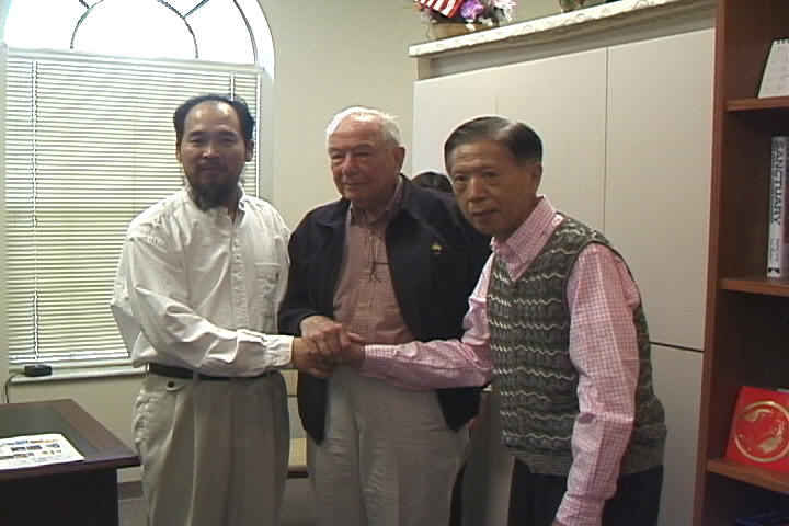 Dr. Yahr, Master Shen Wu and Mr. Liang