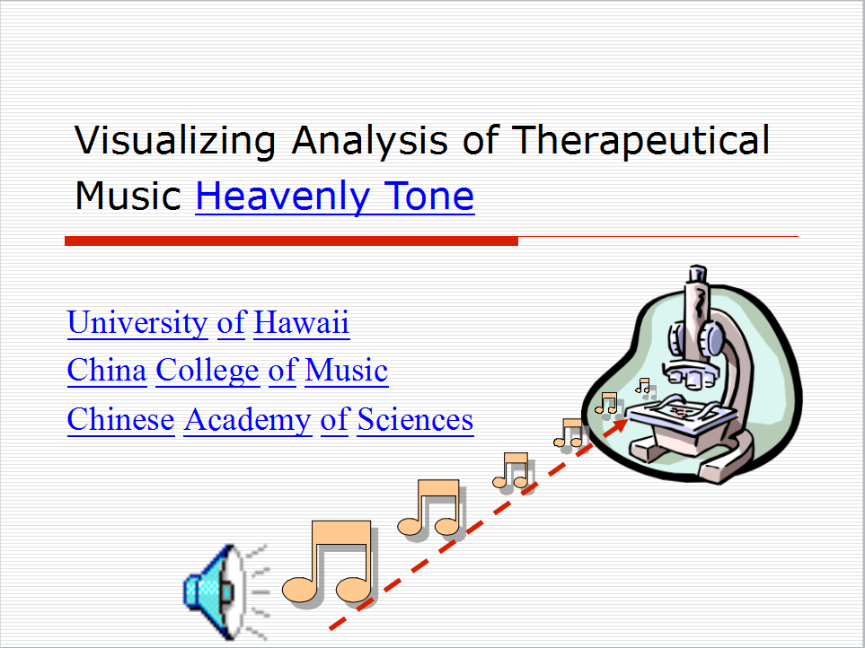Visualizing Analysis of Therapeutic Music Heavenly Tone 1